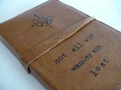 leather journal handprinted custom for you by inblue on Etsy - StyleSays