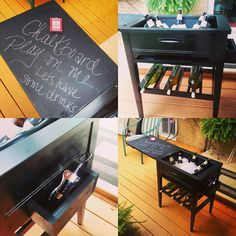 Repurpose Vintage sewing machine cabinet into Wine/Liquor Station