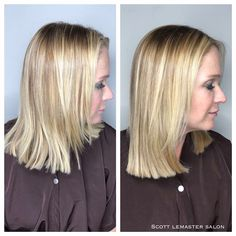 Gorgeous one box transformation at Scott LEMASTER Salon and Spa   Hair by Claire and Lisa