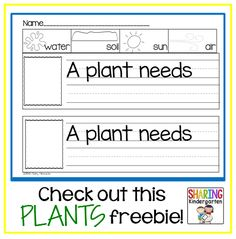 Grab this FREEBIE all about PLANTS!