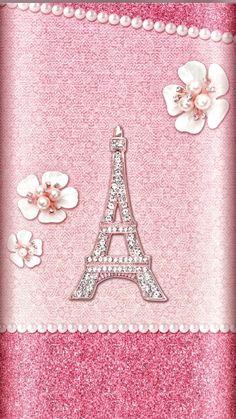 Pink Love, Cute Pink, Pretty In Pink, Rose Gold Wallpaper, Paris Wallpaper, Tour Eiffel, Cellphone Wallpaper, Iphone Wallpaper, Glitter Png