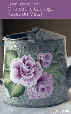 April Numamoto demonstrates how to make shell strokes and scoop strokes, which comprise most of the rose, and shares tips for painting on metal surfaces.