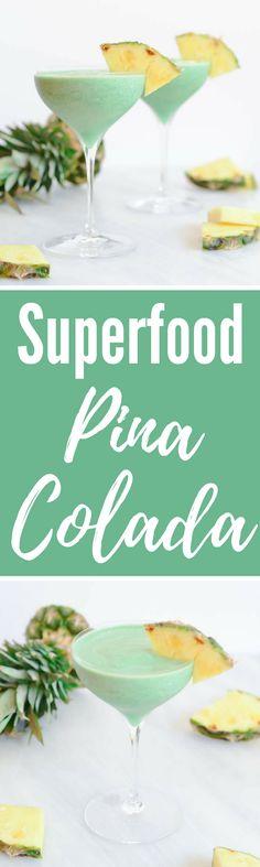 Superfood Spirulina Pina Colada | CaliGirlCooking.com