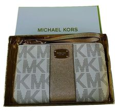 Michael Kors Met Center Stripe LG TZ Wristlet -- Check out this great product.