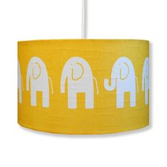 Handmade Retro Elephant Lampshade... or will I have enough fabric left to make one myself?