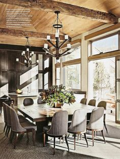Large party rustic dining
