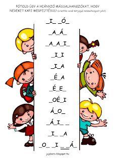 JujoBoro: Játékos feladatok magyar órára Montessori, Word Search, Teacher, Letters, Album, Comics, Words, School, Professor