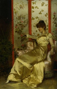 Reading :: Charles Joseph Frederick Soulacroix  Art, posters and prints of a woman or women reading repinned by www.AboutHarry.com