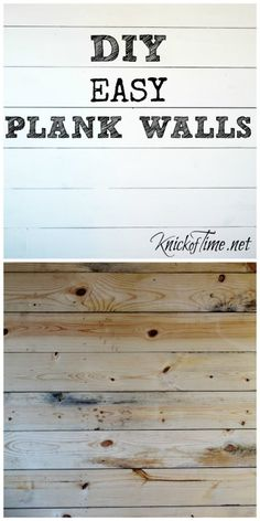 "DIY How to Install a Wood Plank Wall and my ""Dear John"" - Knick of Time Wood Plank Walls, Wood Planks, White Plank Walls, Beach Room, Metal Tree Wall Art, Beach Themes, Martha Stewart, Home Projects, Tricks"