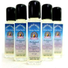 Sacred Scent Perfumed Oil Divine Sandal - The Hippie House Musk Perfume, Perfume Oils, Fragrance, Vanilla Essential Oil, Pure Essential Oils, Hippie House, Long Lasting Perfume, Lovely Perfume, Vanilla