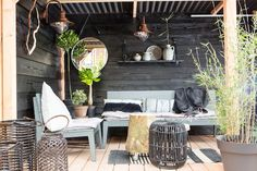 23 Magical Outdoor Hanging Decoration Ideas to Bring Your Patio to Life - The Trending House Outside Living, Outdoor Living, Garden Living, Home And Garden, Garden Furniture, Outdoor Furniture Sets, Outdoor Spaces, Outdoor Decor, Garden Seating