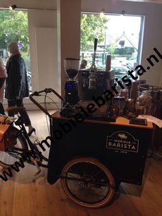 Mobiele Barista bak koffie fiets