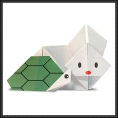 The Tortoise and the Hare Origami for Kids Tutorial