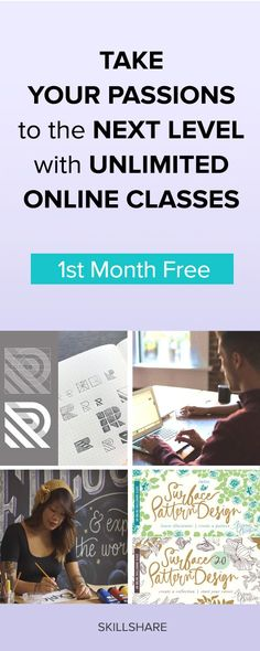 Get Your Free Month of Unlimited Classes! Take your professional skills and passion projects to the next level with unlimited access to over 17,000 classes taught by top creators from around the world.