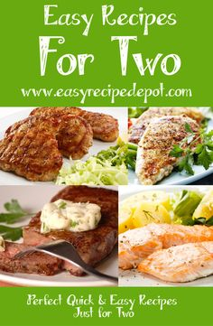 Quick and easy recipes for two.