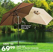 Flexx™ 9' Market Umbrella from Big Lots $69.99 (30% Off) -