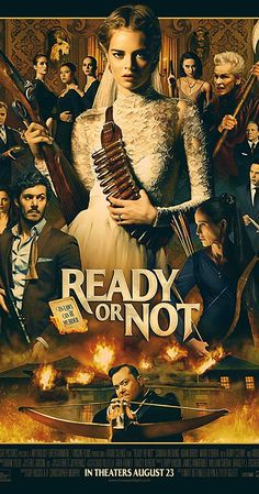 READY OR NOT The film stars Samara Weaving as a newlywed who becomes hunted by her spouse's family as part of their wedding night ritual. Mark O'Brien portrays her husband, with Adam Brody, Henry Czerny and Andie MacDowell as members of his family. Movies 2019, Hd Movies, Horror Movies, Movies To Watch, Movies Online, Movies And Tv Shows, Movie Tv, Comedy Movies, Movie Plot