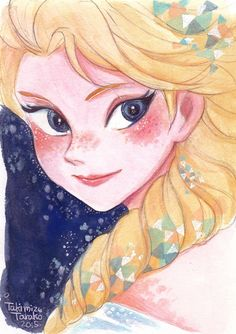 Elsa #frozen #disney #fanart