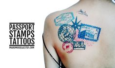 tattoo idea passport stamp
