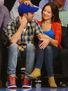 Jason Sudeikis and Olivia Wilde...I love that he always has KC stuff on :)