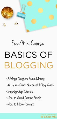 Loved this! Free Basics of Blogging Video Course!