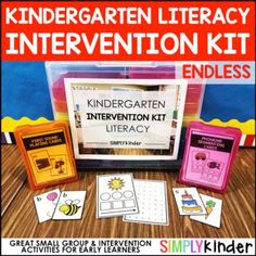 Kindergarten Intervention Kit - Endless Literacy1 Name Crafts, Alphabet Crafts, Preschool Alphabet, Alphabet Activities, Alphabet Letters, Teaching Calendar, Help Teaching, Teaching Resources, Teaching Ideas