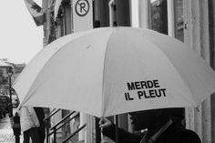 flerise:  merde il pleut (shit it's raining)