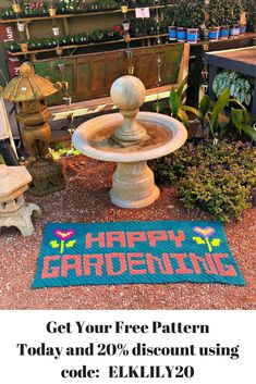 It's time to get your Springtime Happy Gardening Rug started today. You'll have a fabulous time making such a fun and lifelong project.