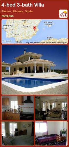 4-bed 3-bath Villa in Pinoso, Alicante, Spain ►€369,950 #PropertyForSaleInSpain