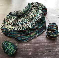 Arboreal by Jennifer Steingass, knitted by anyalulu | malabrigo Arroyo in Natural and Camaleon