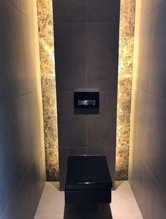 Toilet cabinet - Home or Pondo - Home DesignToilet cabinet toilet room. Solid oak, matt white and matt black combined. Luxury toilet designed by GJ Meijer. Black toilet by Duravit, tiles Bathroom Sink Design, Restroom Design, Bathroom Design Luxury, Bathroom Layout, Luxury Toilet, Small Toilet Room, Toilette Design, Wc Design, Modern Toilet
