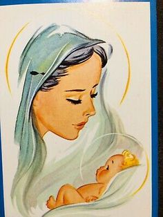 Mother Mary Images, Images Of Mary, Mother Mary Quotes, Christian Drawings, Christian Paintings, Mother Painting, Jesus Painting, Mother And Baby Paintings, Catholic Art