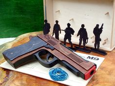 Rubber band Gun Handmade Wooden M9 by LignumArt on Etsy