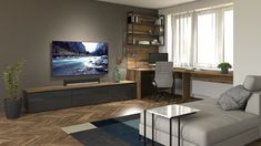 Custom Furniture, Furniture Ideas, Flat Screen, Living Room, Bespoke Furniture, Blood Plasma, Flatscreen, Home Living Room, Drawing Room