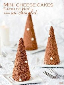 Mini cheesecakes Sapin de Noël au chocolat (sans cuisson)