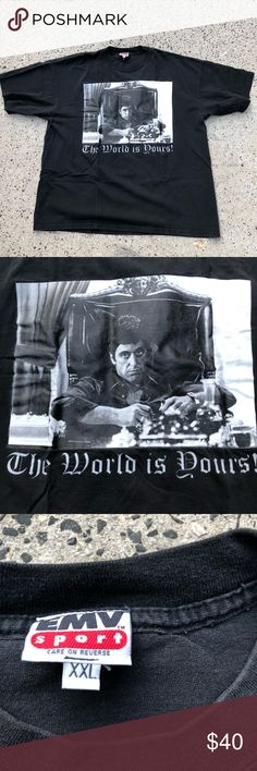 Scarface Movie Tony Cocaine Desk SIT BACK Licensed Adult T-Shirt All Sizes
