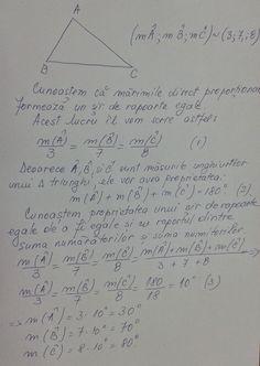 Mărimile proporţionale si triunghiul (clasa a VI-a, a VII-a)
