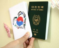 Korea Hart Flag Passport Case Holder I love Korea K Pop South Korea SM NCT Exo #KoreaHart