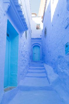 Chefchaouen, Morocco: A Guide to the Blue City Chefchaoeun: Why is There a Blue City in Morocco? – There She Goes Again Indian Palace, Blue City Morocco, There She Goes, Images Instagram, Moroccan Blue, Travel Advisory, Belle Villa, Morocco Travel, Blue Aesthetic