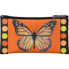 Statement Clutch - Orange Butterfly Clutch by VIDA VIDA aMdewFJ