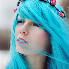 Lightest Teal Hair Color.