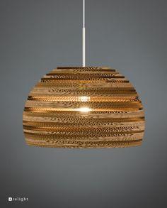 Bestel onze Kartonnen hanglamp RESA voordelig in onze webshop! Relight levert producten met de beste kwaliteit, gemaakt van gerecycled karton! Dining Table Lighting, Light Table, Lamp Light, Home Lighting, Chandelier Lighting, Light Fittings, Light Fixtures, Ceiling Lamp, Ceiling Lights