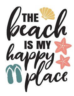 The beach is my happy place – Magnolia Signs Ocean Quotes, Beach Quotes, Quotes Quotes, Crush Quotes, Cricut Craft Room, Cricut Vinyl, Island Quotes, Relax, Summer Quotes