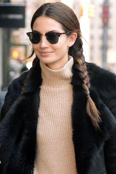 Hair Inspiration: Lily Aldridge's Pigtail Braids