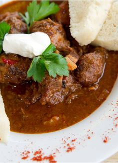 Goulash is a hearty stew of meat and vegetables, typically seasoned with paprika. The dish originates from Hungary and is ideally suited to our diced wild boar.