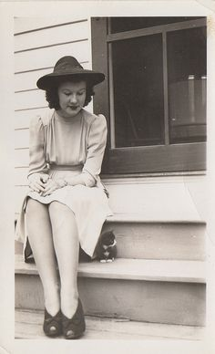 oldtimeycats:    my little friend and i by signs and wonders on Flickr.  Fall 1940.