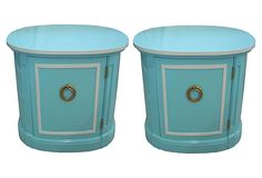Blue Side   Tables, Pair on OneKingsLane.com $1495 vintage from $3200