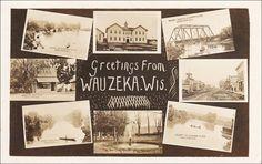 RP: WAUZEKA , Wisconsin , PU-1913 ; 8-view postcard