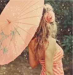 Peach and pink photography, parasol