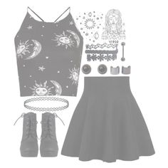 """""""//CountingStars//"""" by alex-bows ❤ liked on Polyvore featuring Motel, Wet Seal, Adele Marie and Luv Aj"""